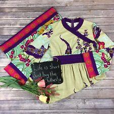 Vintage 60's Goldworm Womens Dress Size 14 Floral Cream Floor Length Bell Sleeve