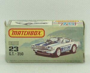 Matchbox Lesney #23 Mustang GT 350 Superfast  Original Box Only