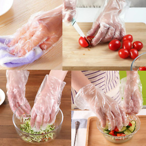 200 x Plastic Disposable GLOVES PREMIUM POLYTHENE Catering Hairdressers Butchers