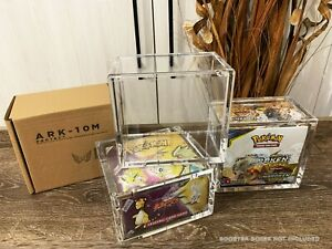 ARK-10M Pokemon Booster Box Acrylic Storage Display Case WoTC/Modern Ultra Clear