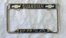 Guardian Chevrolet Dealer License Plate Frame Brea, CA Restored 1956+ Chevy