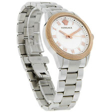 Versace V Sport Ladies MOP Rose Gold Bezel Swiss Quartz Watch P6Q89FD002S099