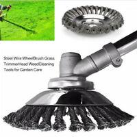 """6"""" Grass Strimmer Trimmer Head Brush Solid Steel Wire Wheel Weed Moss Garden"""