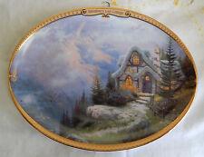 Rainbow End Cottage Plate Thomas Kinkade'S Scenes Of Serenity Oval Coa