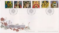 UNADDRESSED BETHLEHEM GB ROYAL MAIL FIRST DAY COVER FDC 2005 CHRISTMAS STAMP SET