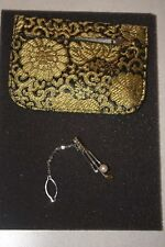 Vintage Golf Club Tie Tack With Pearl Ball from Japan w Case