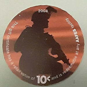 5F10  AAFES Pog  2004 U.S. ARMY Money  About  Uncirculation Condition