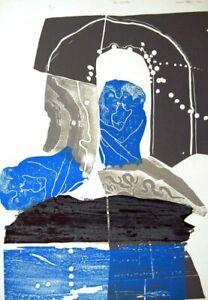 Trevor Allen The Lovers 1966 Original Signed Print Linocut Lithograph