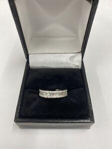 Diamond Baguette And Brilliant Cut Ring