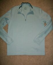 Euc Mens Size M Nike 1/4 Zip Dri-Fit Top / Jacket Blues 350