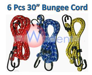 "6Pk 30"" Long Bungee Cord Strap Elastic Tie Down"