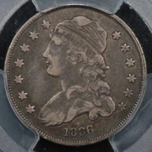 1836 Capped bust quarter VF with reverse planchet flaw