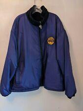 Los Angeles Lakers Jacket Large Mens Vtg Reversible NBA Lebron Pro Player Rare
