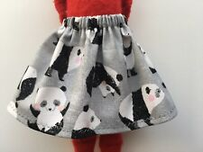 Christmas Scout Elf Skirt - Girl Doll Clothes - Rolling Panda Bears - Cute Gift