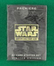 STAR WARS PREMIERE CCG Lmited Edition Starter Deck Black Border Sealed 1995