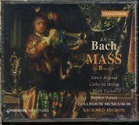 BACH MASS in B minor CD NEW Nancy Argenta Catherine Denley Richard Hickox