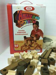 Amaze-n-Marbles Wood Maze Construction Building 51pc Wood Set Game Bag 0 Marbles