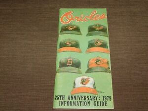 VINTAGE 1979 BALTIMORE ORIOLES BASEBALL 25TH ANNIVERSARY INFORMATION GUIDE BOOK