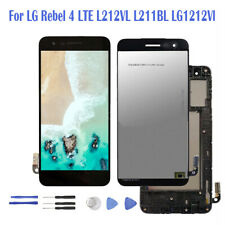 For LG Rebel 4 LTE L212VL L211BL LG1212Vl LCD Touch Screen Replacement + Frame