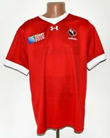 CANADA NATIONAL TEAM 2015 RUGBY UNION SHIRT JERSEY UNDER ARMOUR WORLD CUP XL