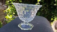 """CRYSTAL FOSTORIA AMERICAN HEX FOOTED MAYONNAISE 4 3/4"""" TALL"""