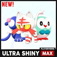 Pokemon Sword Shield - Ultra Shiny G7 Starter Team Bundle 6IV + Master Ball NEW