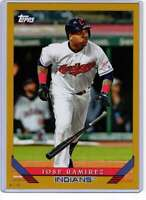 Jose Ramirez 2019 Topps Archives 5x7 Gold #298 /10 Indians