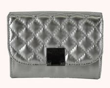 ** GUESS DELANEY Mini Grey Faux Leather Wallet  Msrp $50.00