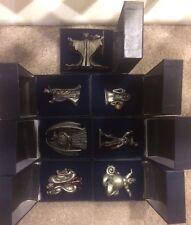 DISNEY VILLIANS VILLAINS PEWTER COLLECTION SET OF 7 CAPTAIN HOOK CHERNABOG WITCH