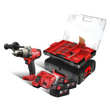 MILWAUKEE M18 fdd-502xa perceuse Batterie x 2 5,0 Ah + 100-tlg. HD zubehörcase
