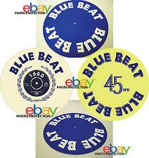 """BLUE BEAT Records 12""""  7"""" SLIPMAT turntable platter mat ska reggae buster capone"""