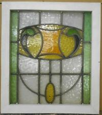 """MID SIZED OLD ENGLISH LEADED STAINED GLASS WINDOW Pretty Abstract 21.5"""" x 24.25"""""""