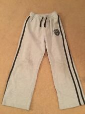 TU boys used grey tracksuit bottoms - age 9 years (134 cm)