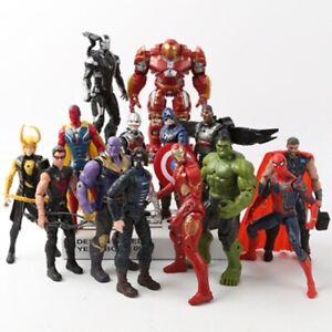 Figurine 16 cm Marvel Avengers Endgame Héros Thanos Spiderman Hulk Iron Man toy