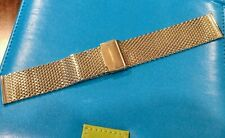 22mm Mesh Milanese Gold Plated Stainless Steel Watch Bracelet