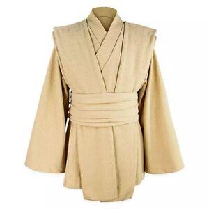 Disney Parks Star Wars Galaxy's Edge Jedi Robe Tunic Costume Cosplay Tan L/XL