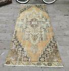 Oriental Bohemian Neutral Color Oriental Vintage Boho Rug Oushak Carpet 3x8 ft