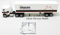 Freightliner COE WEAVER POPCORN Tractor Trailer HO 1/87 Scale Vintage Herpa 1022