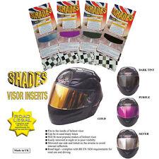Shades Motorcycle Helmet Visor Insert Dark Tint Smoke (Single) UK Road Legal