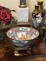 Antique Japanese Porcelain Famille Rose Bowl Hand Painted Signed
