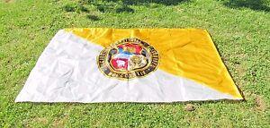 "HUGE University Of Missouri Flag 8' X 4' 10"" Good Used Shape Rare Free S&H"