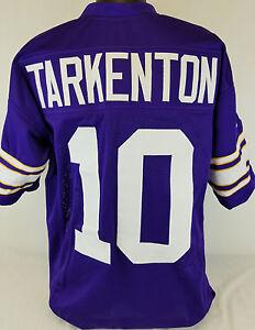 Fran Tarkenton Unsigned Custom Sewn Purple Football Jersey Size - L, XL, 2XL