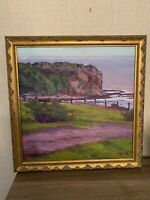 James Slay, Vibrant Beach Scene, Listed Ca Artist