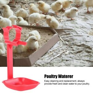 20pcs Chicken Drinker Nipple Cups Automatic Integrated Pipes Ball Hanging Cups