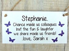 Chance made Colleagues Fun Laughter Personalised Plaque Leaving Work Retirement
