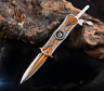 Tactical Fiexed Knife Folding Survival Pocket Blade Open Stainless Outdoor