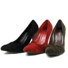 Classic Pointed Toe Stiletto Heel Pumps, Women's Shoes, Black/Brown/Red 5.5-10US