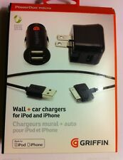 Griffin PowerDuo Wall+Car Chargers For iPod, iPhone & iPad