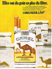 PUBLICITE ADVERTISING  1972    CAMEL   cigarettes