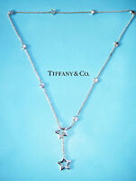 Tiffany & Co Star Link Lariat Sterling Silver Necklace 18.5 Inch